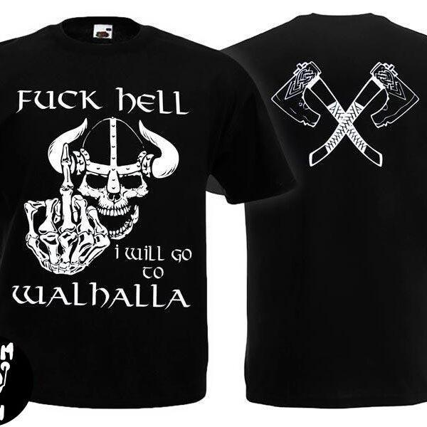 Футболка WALHALLA Fuck Hell викинг