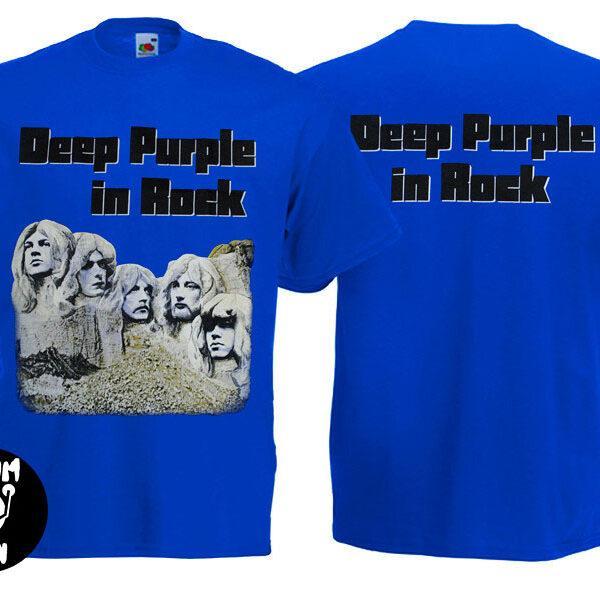 Футболка DEEP PURPLE In Rock синяя