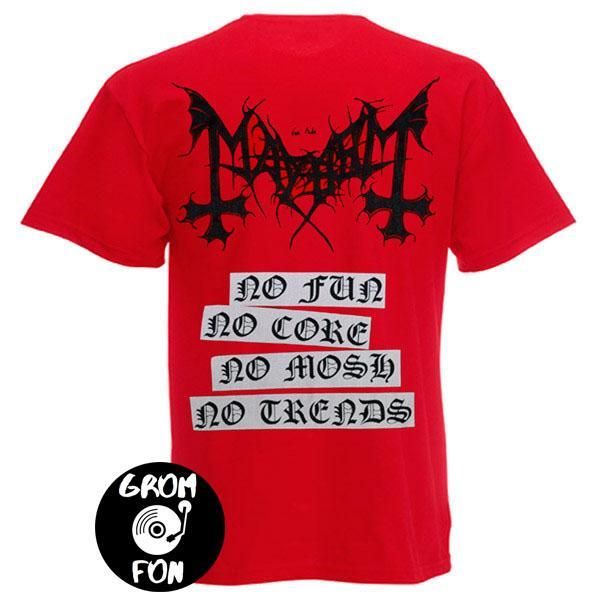 Футболка MAYHEM - Deathcrush красная