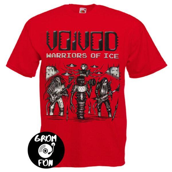 Футболка VOIVOD Warriors Of Ice красная