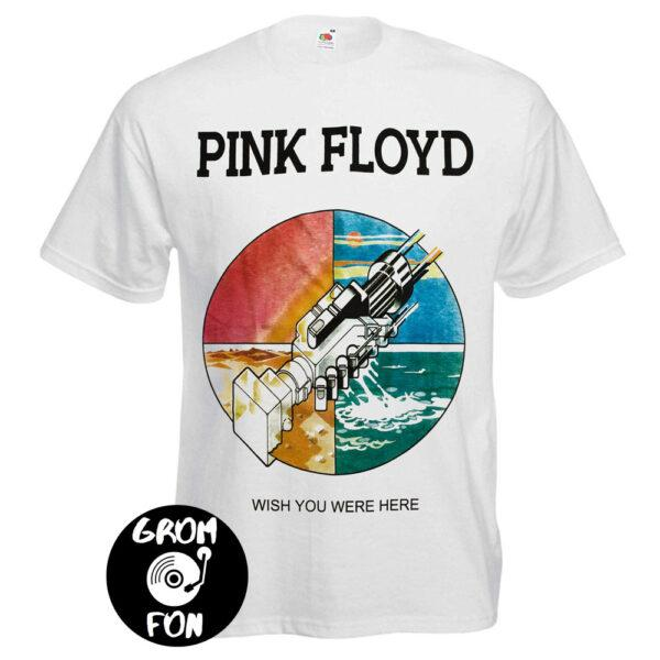 Футболка PINK FLOYD Wish You Were Here белая