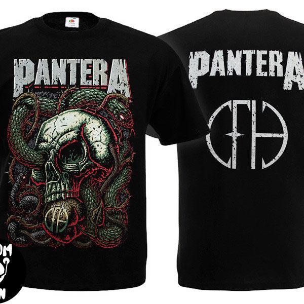 Футболка PANTERA Skull & Snake