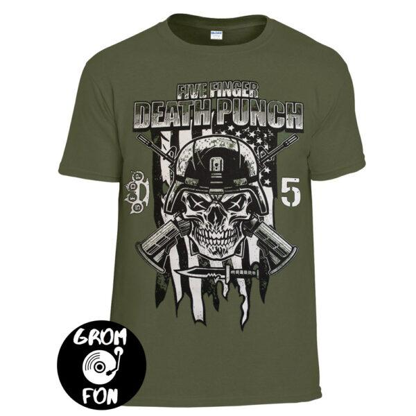 Футболка FIVE FINGER DEATH PUNCH Infantry Special Forces оливковая