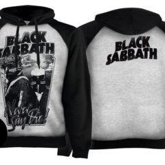 Толстовка реглан BLACK SABBATH Never Say Die 2 Pilots светло-серая