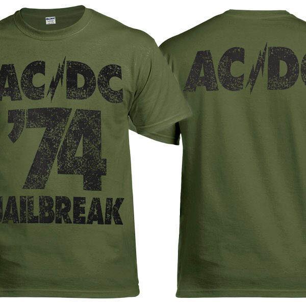 Футболка AC/DC Jailbreak оливковая