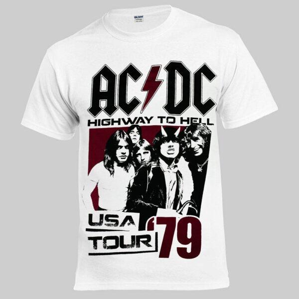 Футболка AC/DC 79 USA Tour белая