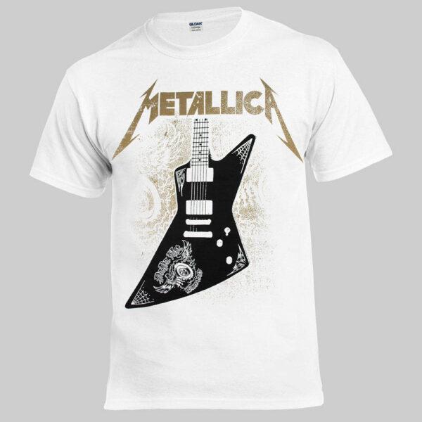 Футболка METALLICA Papa Het guitar белая