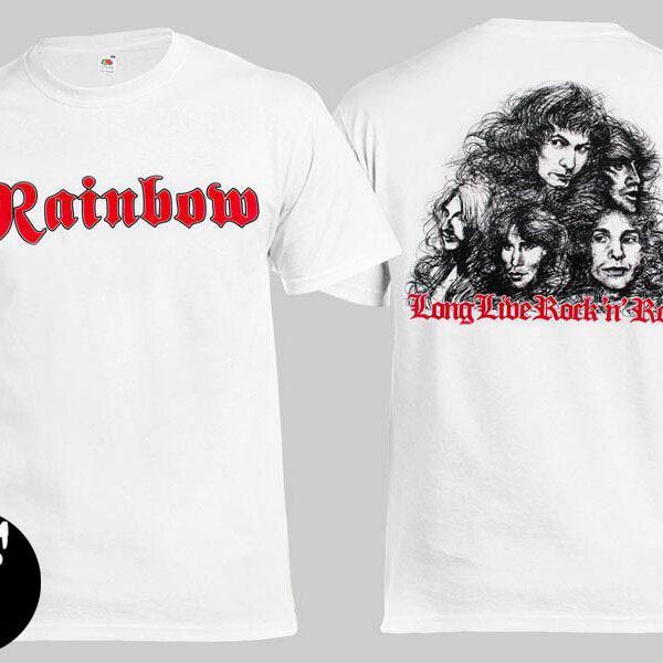 Футболка RAINBOW Long Live Rock'n'Roll белая