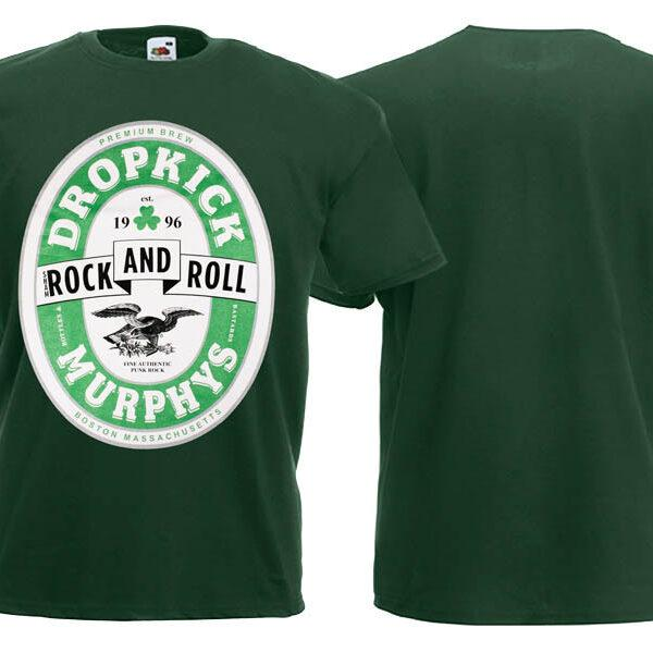 Футболка DROPKICK MURPHYS Rock And Roll темно-зеленая