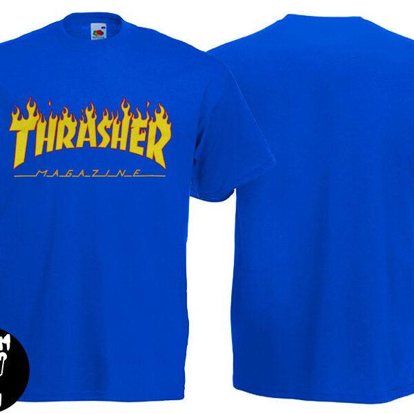 Футболка THRASHER Flame синяя