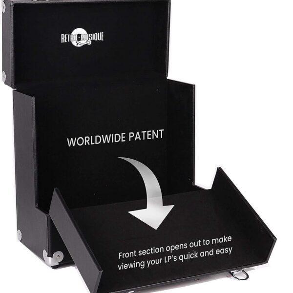 Футляр для хранения 35 12-дюймовых виниловых пластинок Wooden LP Vinyl Storage Case