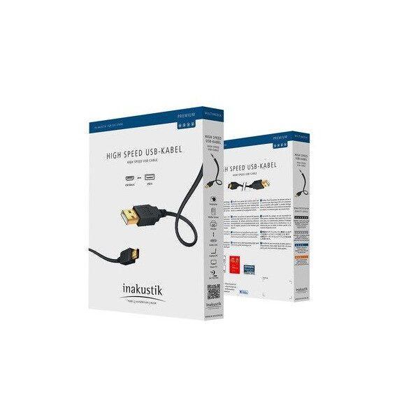 Кабель Inakustik Premium USB A B 1 м