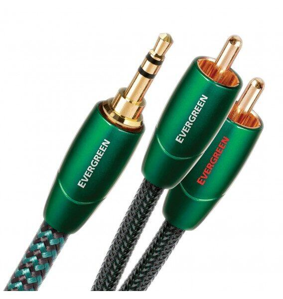 Межблочный шнур AudioQuest Evergreen 3.5мм - 2RCA 1.5м