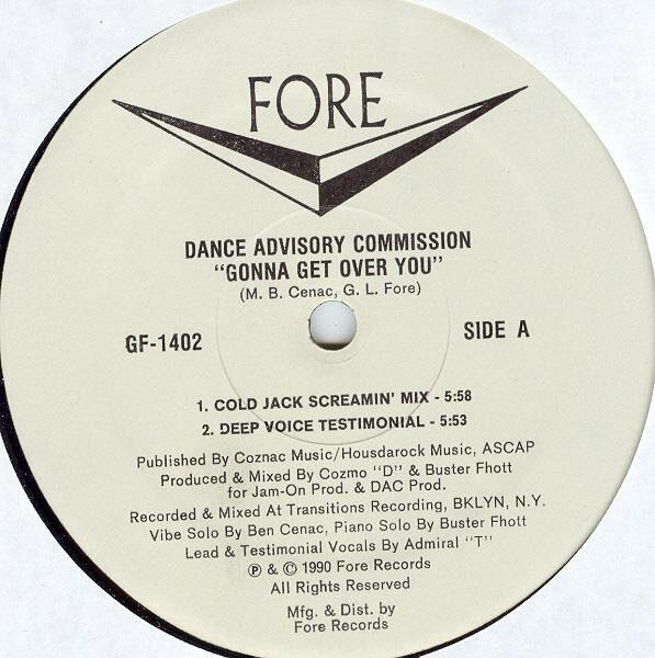 Dance Advisory Commission – Gonna Get Over You